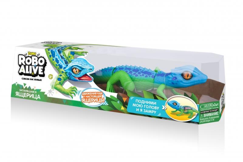 Купить Игрушка роботизированная ящерица Zuru Robo Alive(сине-зеленая) [Т10993], Для мальчиков и девочек, Развивающие игрушки для малышей