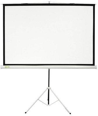 Экран Cactus 180x180см Triscreen CS-PST-180x180 1:1 напольный рулонный белый фото