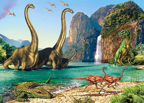 Купить КАСТОР Пазл Динозавры , 60 элементов [В-06922], Кастор, Картон, Польша, Пазлы
