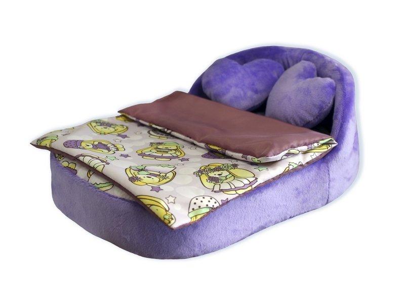 Купить BELON Набор мягкой мебели для кукол Милая зайка , 4 предмета [HM-003/4-6], фиолетовый, ПВХ, Картон, Текстиль, плюш, фигурный поролон, Мебель для кукол