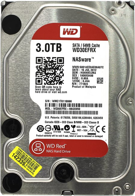 Жесткий диск 3 Тб Western Digital WD Red (WD30EFRX) 3.5