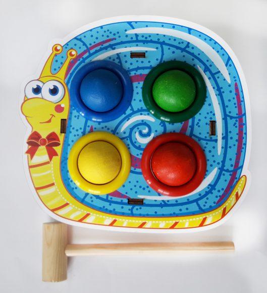 Купить WOODLAND Стучалка цветная Улитка [115305], Дерево, Развивающие игрушки для малышей