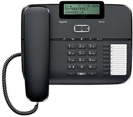 Купить Проводной телефон Gigaset DA710 Black, Черный, Китай