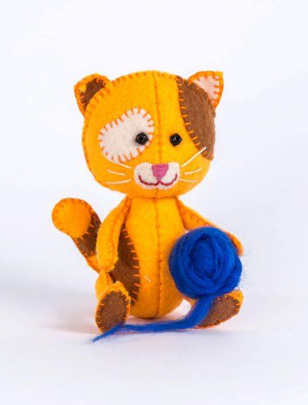 Купить ПЕРЛОВКА Набор для изготовления текстильной игрушки Котёнок Рыжик [ПФД-1059], Перловка, пластик, Бумага, Текстиль, фетр, Товары для изготовления кукол и игрушек