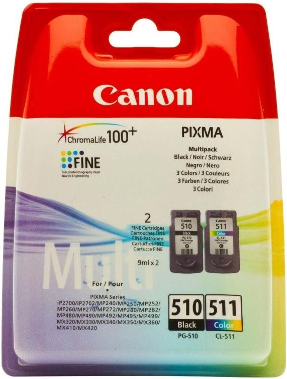 Набор струйных картриджей Canon PG-510/CL-511 (2970B010) фото
