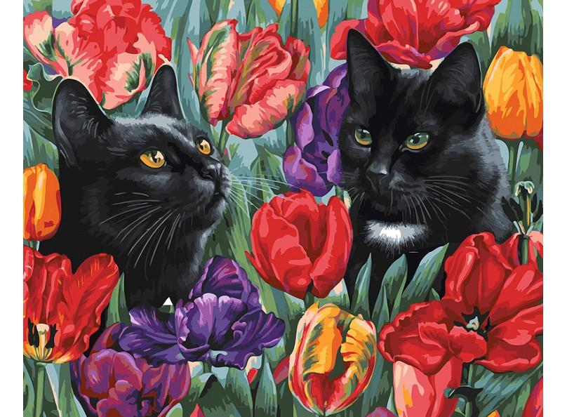 Купить 191-AB, Белоснежка Набор для рисования Среди тюльпанов , 40x50 см, Китай, Наборы для создания украшений