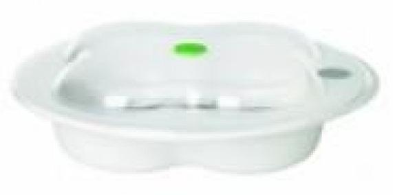 Купить BEBE CONFORT Тарелка с крышкой Bebe Confort, в форме лаврового листа, цвет: белый, [31000305], полипропилен, Посуда для малышей