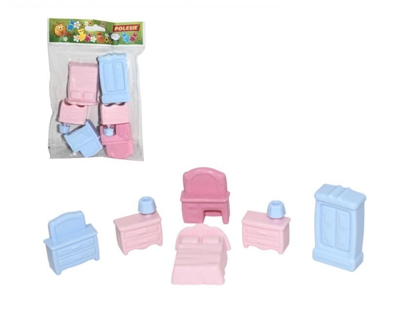 Купить ПОЛЕСЬЕ Набор мебели для кукол №1 (6 элементов) [49322], Беларусь, Мебель для кукол