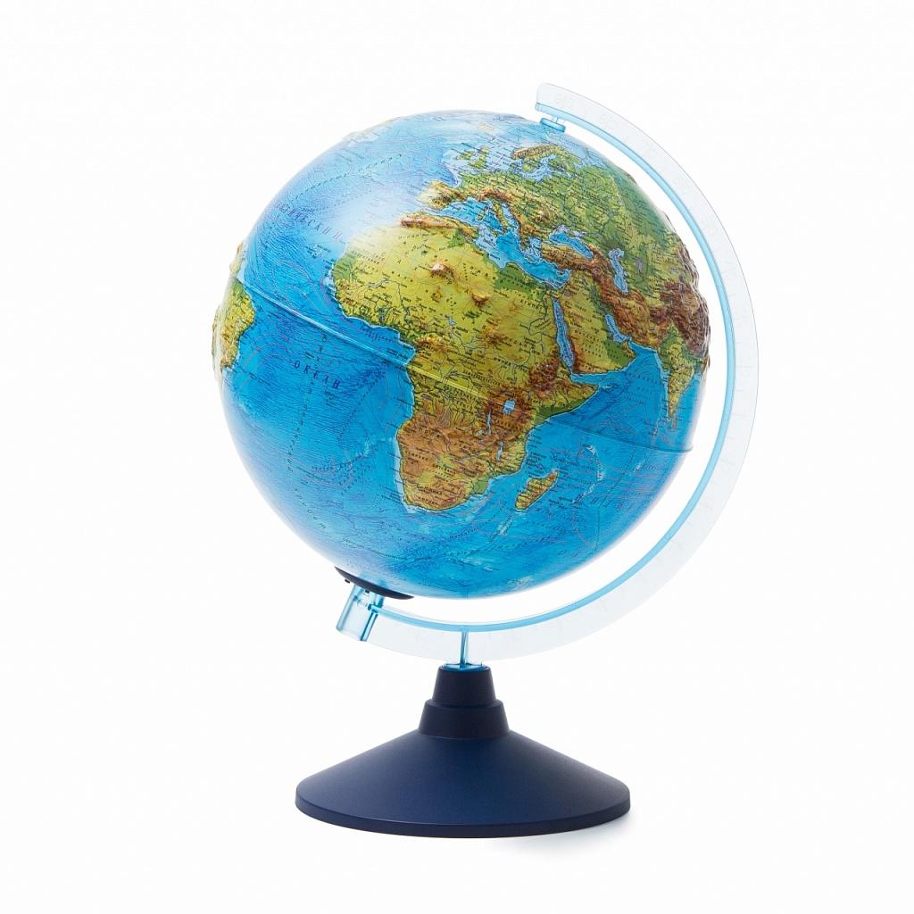 Купить Глобус GLOBEN Ве022500261 Физико-политический рельефный (батарейки) 250, пластик, Для мальчиков и девочек, Россия, Школьные глобусы
