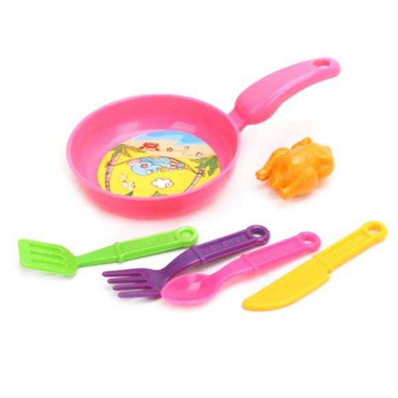 Купить НАША ИГРУШКА Набор посуды и продуктов, 6 предметов [34], Наша игрушка, Разноцветный, пластик, Игрушечная еда и посуда