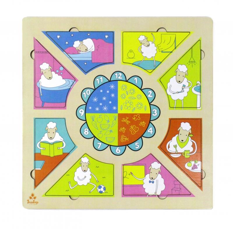 Купить Развивающая игрушка: рамка-вкладка Распорядок дня [IG0092], Обучающие материалы и авторские методики для детей