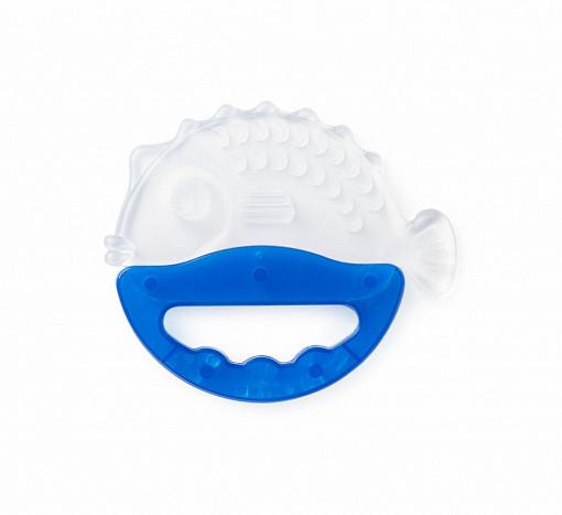Купить FARLIN Прорезыватель-погремушка с ручкой Рыбка , цвет: синий [BF-14107], Силикон, Погремушки и прорезыватели