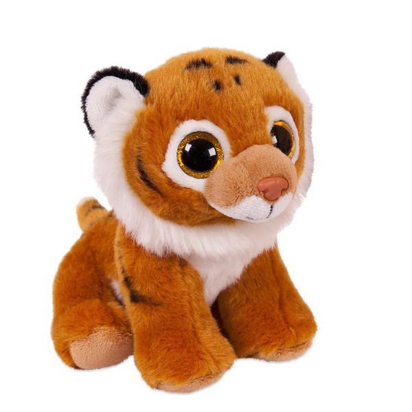Купить ABTOYS Мягкая игрушка Тигренок , 14 см (рыжий) [M0065], Искусственный мех, Текстиль, Для мальчиков и девочек, Китай, Мягкие игрушки