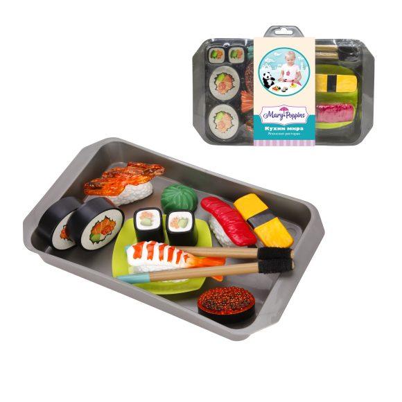 Купить MARY POPPINS Набор посуды и продуктов Кухни мира Японский ресторан [453139], пластмасса, Игрушечная еда и посуда