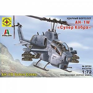 Купить МОДЕЛИСТ Сборная модель вертолета AH-1W Супер Кобра (1:72) [207291], пластик, Россия, Сборные игрушечные модели
