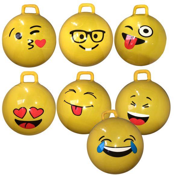 Купить НАША ИГРУШКА Мяч-попрыгун с одной ручкой Смайл , 55 см [635990], Наша игрушка, латекс, Детские мячи и прыгуны