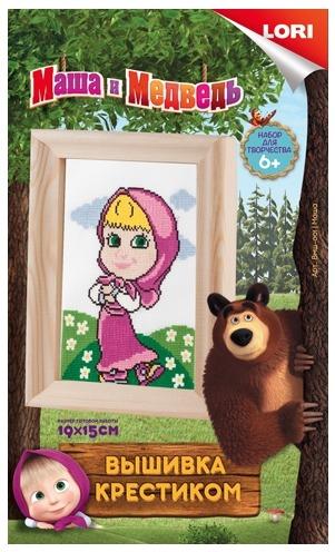 Купить LORI Вышивка крестиком мулине Маша и Медведь. Маша [Bмш-001/LR], Товары для изготовления кукол и игрушек