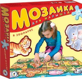 Купить ДРОФА Мозаика Собирай на полу. В зоопарке [1709], Картон, Мозаика для детей