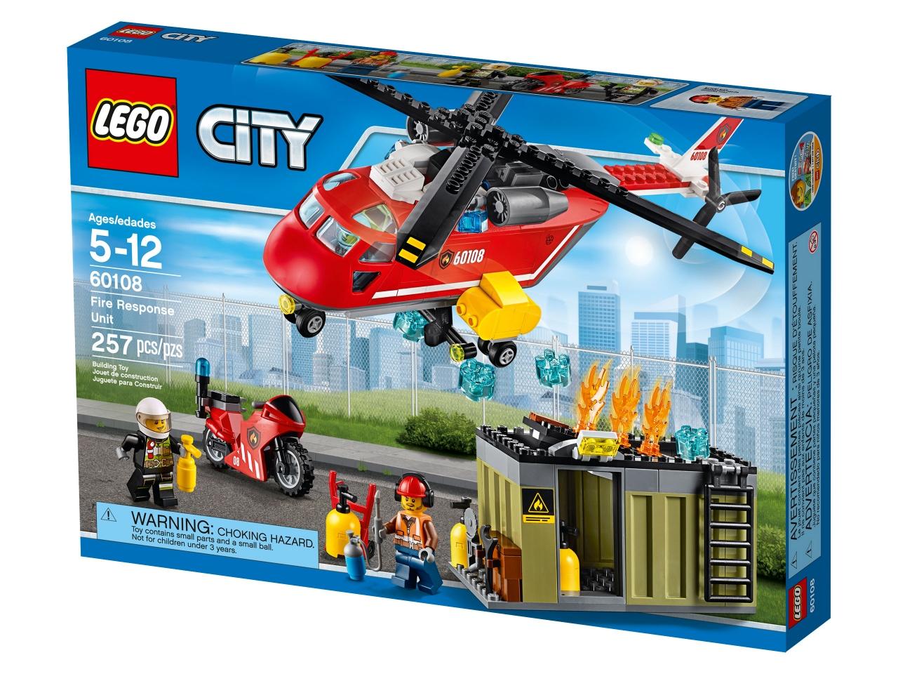 Купить Конструктор LEGO 60108 City Пожарная команда быстрого реагирования, пластик, Для мальчиков и девочек, Чехия, Конструкторы