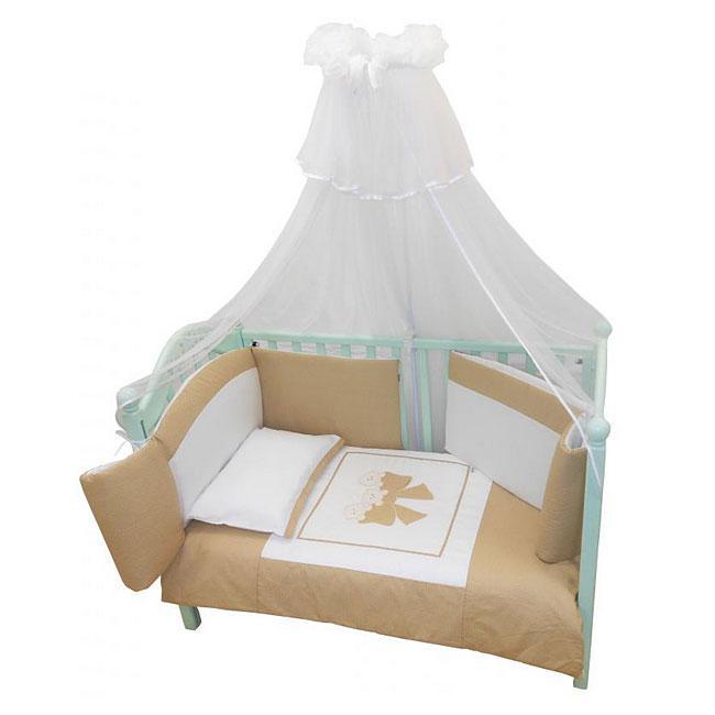 Купить 12357422, ANDY AND HELEN Комплект в кроватку 6 предметов Andy&helen Бантик, [6/20V3R52 6P SB С], Постельное белье для малышей