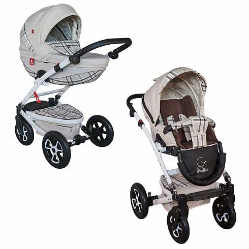 Купить TUTEK Детская коляска Timer , 2 в 1, цвет: NTM1C/B, серый в клетку [УТ-0002453NTM1C/B], пластик, Металл, Текстиль, Детские коляски