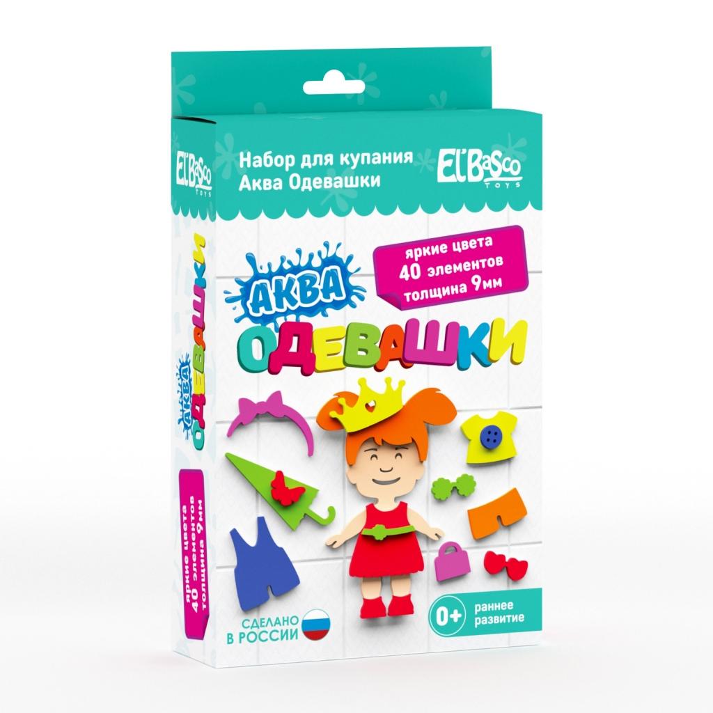 Купить Набор EL BASCO 08-005 Аква Одевашка девочка, ЭВА, Для мальчиков и девочек, Россия, Детские игрушки для ванной