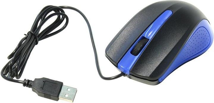 Купить Мышь Oklick 225M Black-Blue USB, Черный