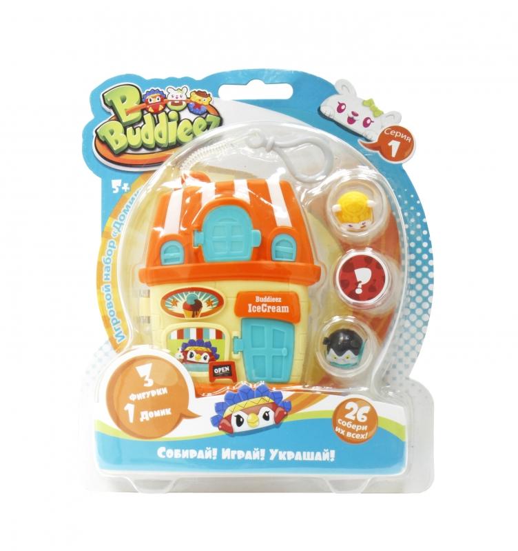Купить 1 TOY Bbuddieez набор-оранжевый домик для хранения с подвеской, 3 шарма, размер 18х14х2см [Т59262], Для девочек, Игровые наборы и фигурки для детей