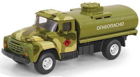 Купить PLAY SMART Металлический грузовик Огнеопасно , военный, инерционный [Р49223], пластик, Металл, Игрушечные машинки и техника