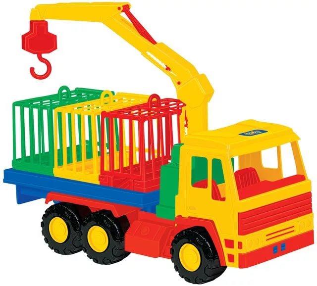 Купить П-44204, Полесье Автомобиль для перевозки зверей Престиж , пластик, Беларусь, от 3 лет, Игрушечные машинки и техника