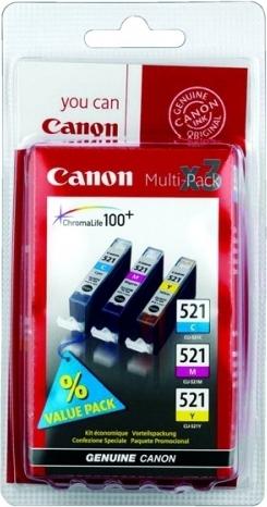 Купить Набор струйных картриджей Canon CLI-521 (2934B010), Набор цветов, Китай