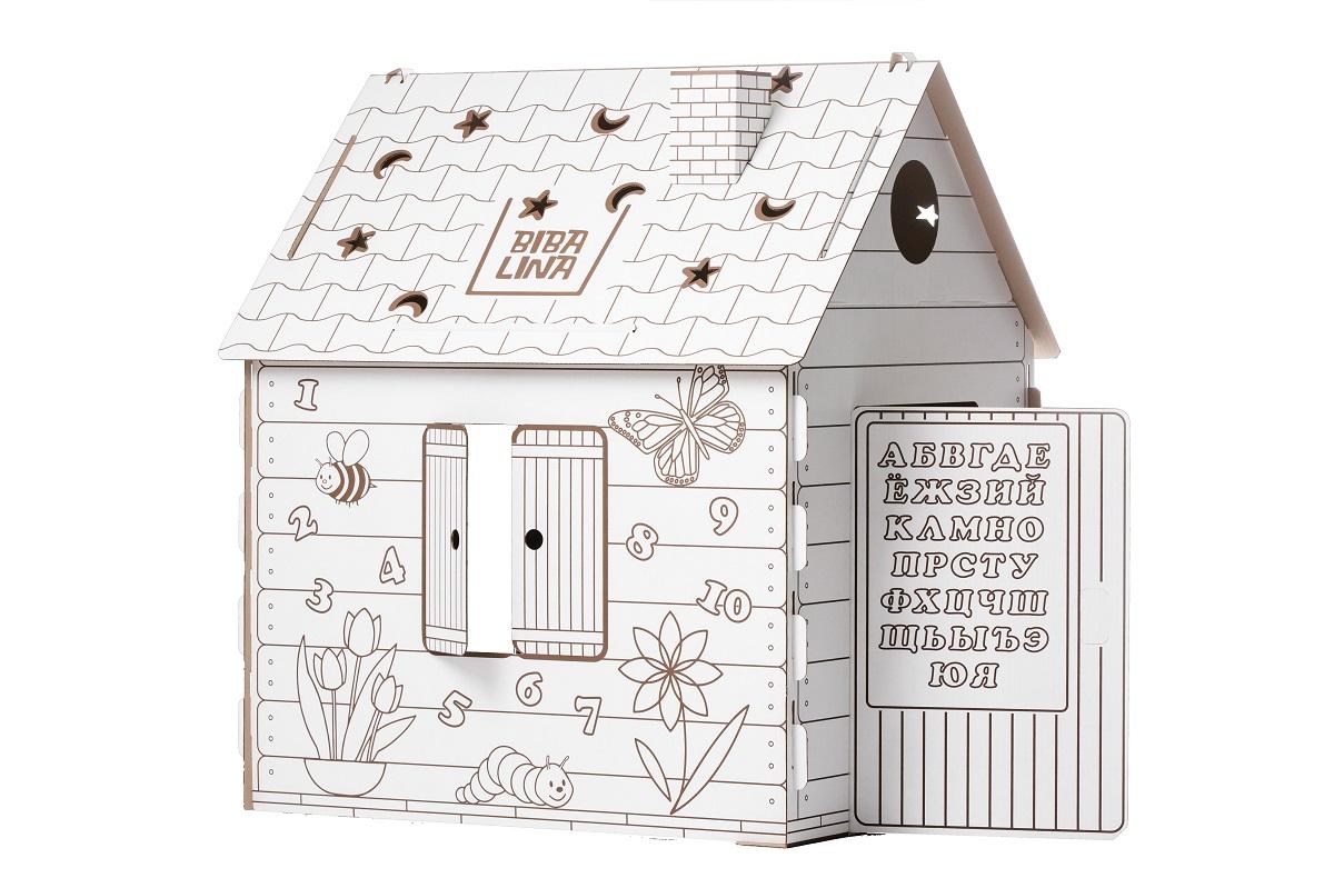 Купить Картонный домик BIBALINA КДР03-001 110/98/75, Для мальчиков и девочек, Россия, Детские игровые домики и палатки