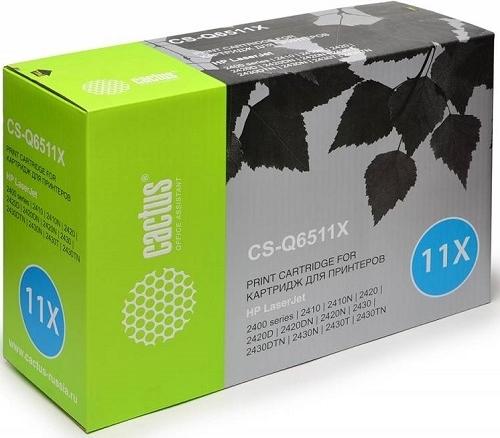 Купить Лазерный картридж Cactus CS-Q6511X Black, Black (Черный), Китай