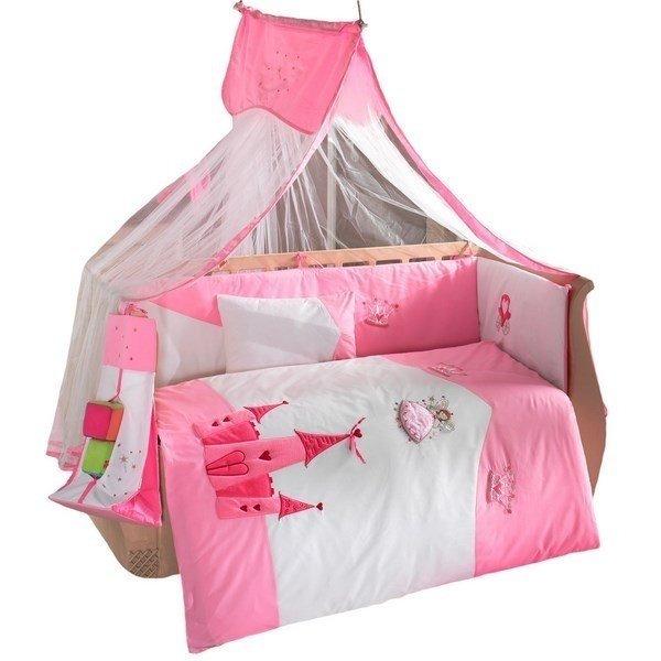 Купить KIDBOO Комплект постельного белья Little Princess (цвет: стандарт, 3 предмета) [00-0012172], красный, белый, Хлопок, Для девочек, Постельное белье для малышей