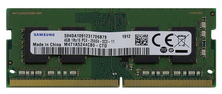Оперативная память SO-DIMM 4 Гб DDR4 2666 МГц Samsung (M471A5244CB0-CTD) PC-21300