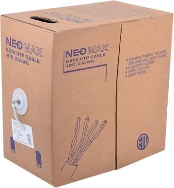 Картинка для Кабель Neomax NM10601 UTP, 4 пары, Категория 6, 305 м. Медный