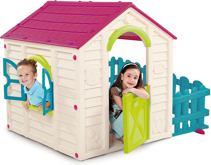 Купить 17197223, KETER Игровой дом MY GARDEN HOUSE Фиолет/Белый/Экрю 156x118x117 см, Детские игровые домики и палатки