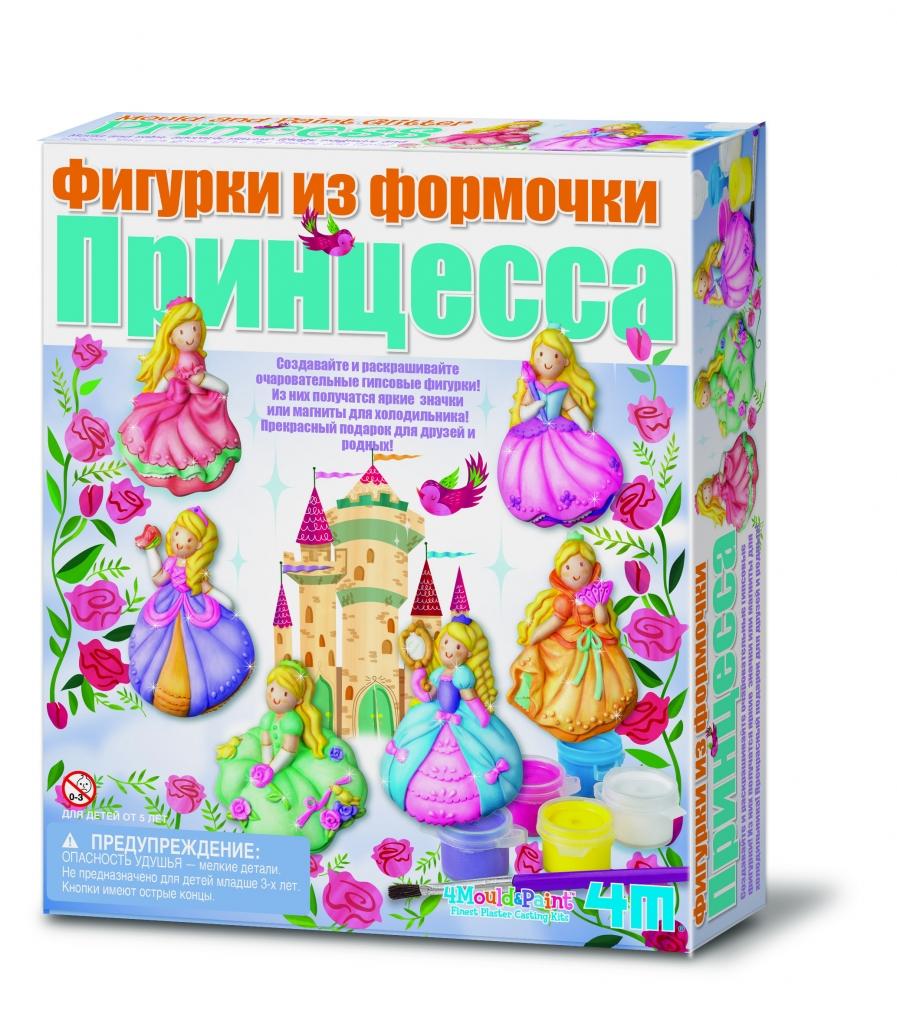Купить Набор 4M 00-03528 Фигурки из формочки Принцесса, гипс, пластик, металл, краска, магнит, Для мальчиков и девочек, Китай, Гравюры для детей