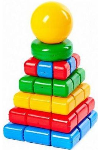 Купить КЛАСАТА Пирамидка Ладья. Шар [1122/KL], 140 x 140 x 280 мм, Пирамидки для малышей