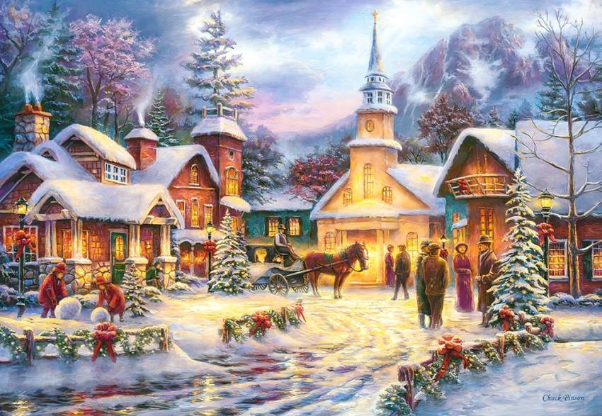 Купить КАСТОР Пазл Праздник Рождества , 1500 элементов [C-151646], Картон, Польша, Пазлы