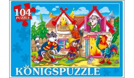 Купить KÖNIGSPUZZLE Пазлы Konigspuzzle. Кошкин дом , 104 элемента [ПК104-7897/РК], Königspuzzle, Картон