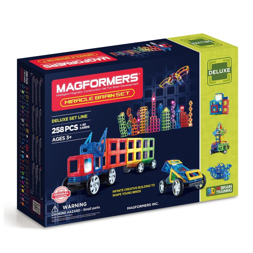 Купить Магнитный конструктор MAGFORMERS 710005 (63093) Miracle Brain set, пластик, магнит, Для мальчиков и девочек, Китай, Конструкторы
