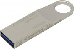 Флешка 128 Гб Kingston DataTraveler SE9 G2 (DTSE9G2/128GB) USB 3.0 Type A, серебристая