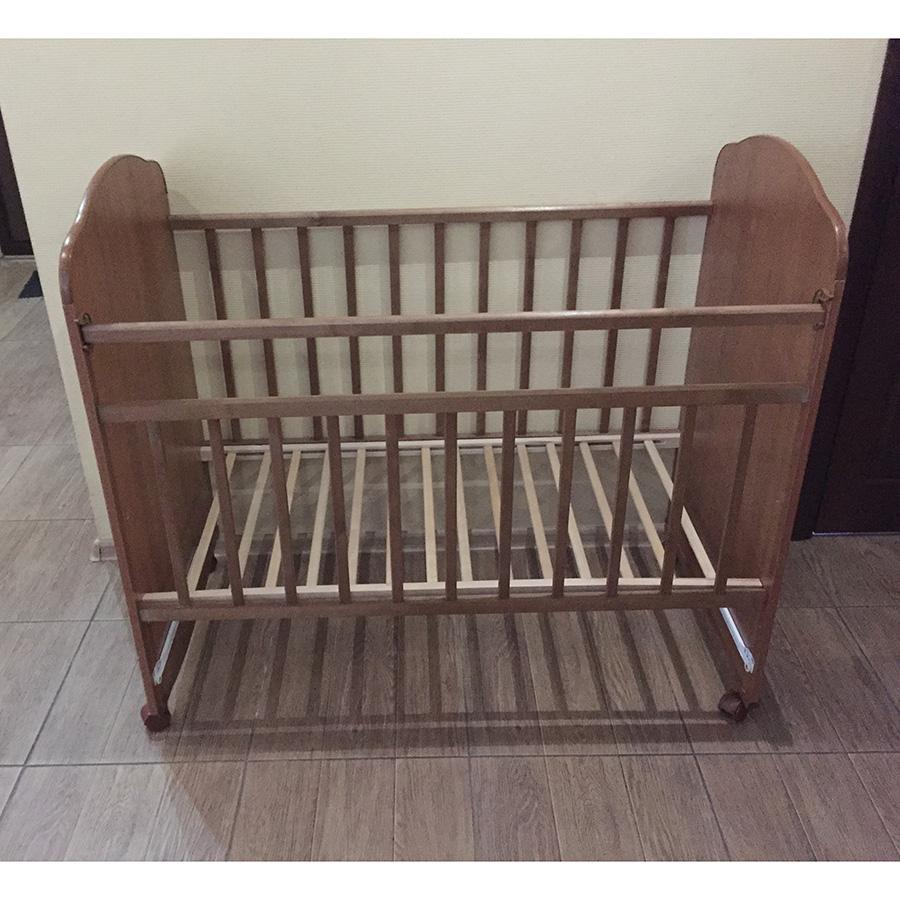 Купить АГАТ Кровать детская ЗОЛУШКА-10 (поперечный маятник) Орех [52101], Россия, Кроватки детские