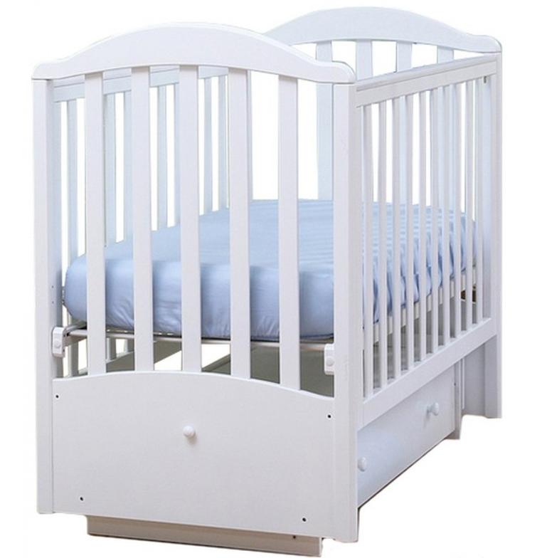 Купить Детская кроватка Кубаньлесстрой АБ 17.2 Лилия Люкс (69 x 106, 5 x 128 см) Белая, белая, Кроватки детские