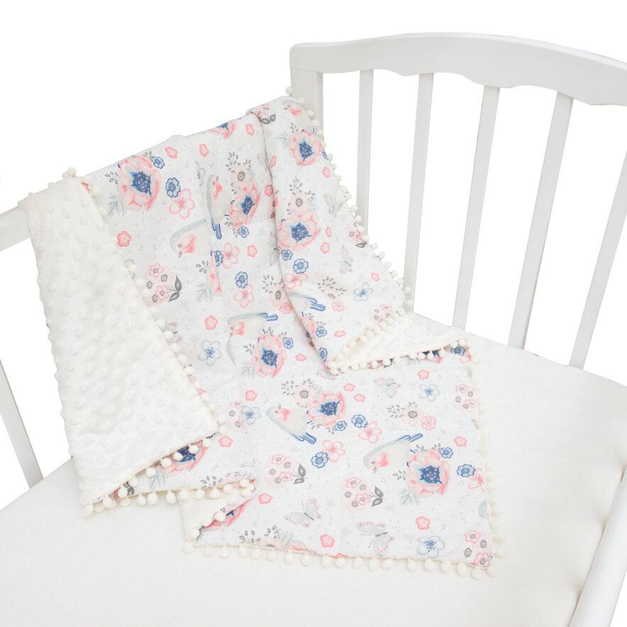 Купить ALIS Одеяло-плед на утеплителе Сказки леса. Птички (85х85 см) [УТ0008422], Хлопок, вельбоа, Покрывала, подушки, одеяла для малышей