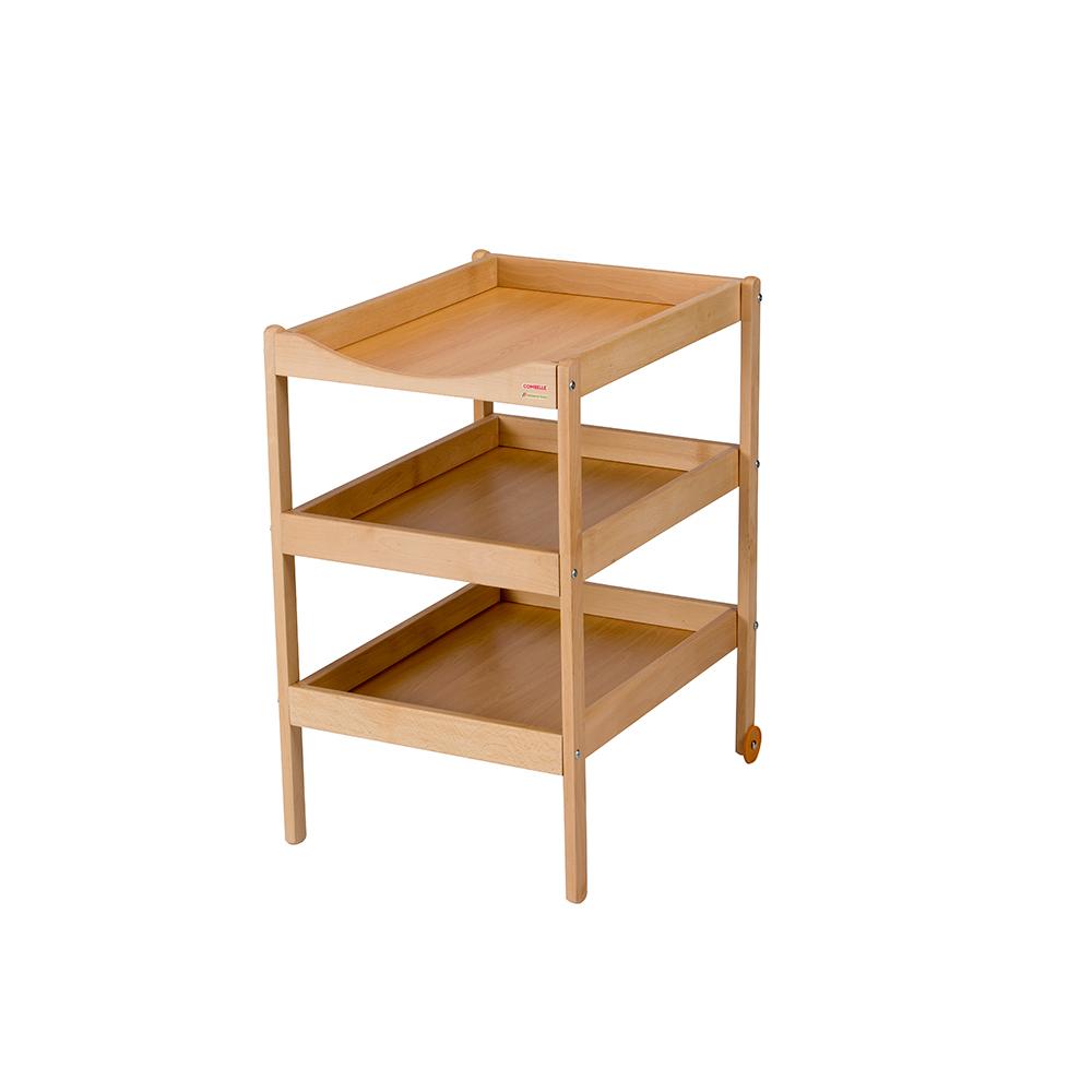 Купить COMBELLE Столик для пеленания SUSIE (дерево) с 3-я полочками 52х82х87см Natural / Натуральный [130], Франция, Пеленальные столики и доски для малышей