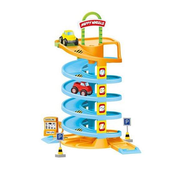 Купить DOLU Игровой набор спиральная дорога с машинками [DL_5153], 60 x 43 x 30 см, пластик, Детские парковки и гаражи