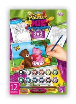 Купить ДАНКО-ТОЙС Набор для тв-ва раскраска по номерам Мишки 2 [PKN-01-08], Danko toys, Украина, Раскраски