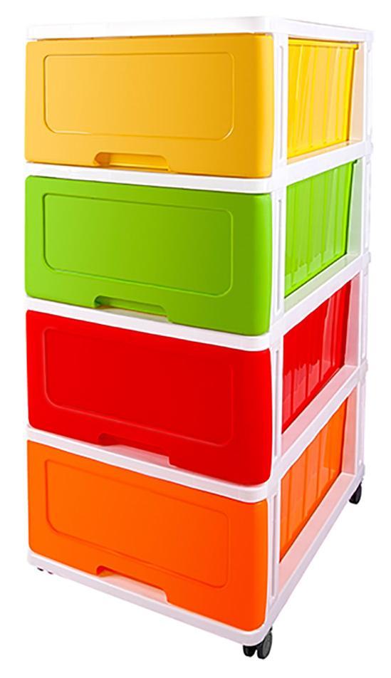 Купить 40241, Комод Dunya Plastik Радуга (40323), Многоцветный, Китай, Детские комоды